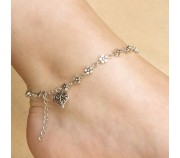 Silver Bead Chain Anklet