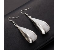 Crystal Scrub Drop Hook Earrings