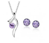 Crystal Necklaces & Pendants Earrings Sets