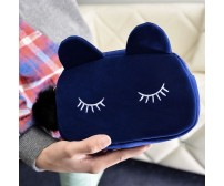 Portable Cartoon Cat Coin Storage/ Cosmetic  Bag